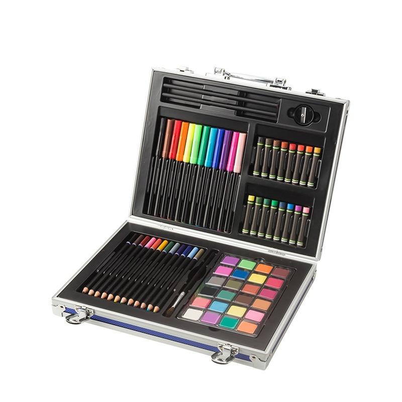 Watercolor Paint Set 24 Colors Water Color Pigment Pastel Colored Pencil Professional Art Painting Pencils Eraser Art Supplies