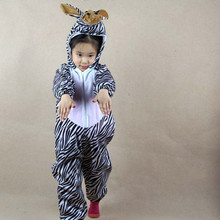 Boys Girls Childrens day Cartoon Animal zebra Jumpsuit Halloween Children Kids Birthday Animals Cosplay Costumes Clothing