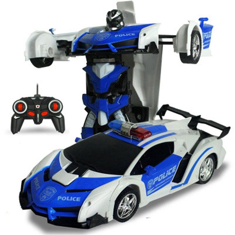 Электрический rc автомобиль спортивный автомобиль ударопрочность Трансформация Робот игрушка Дистанционное управление деформации автомобиля RC роботы детская Игрушечные лошадки