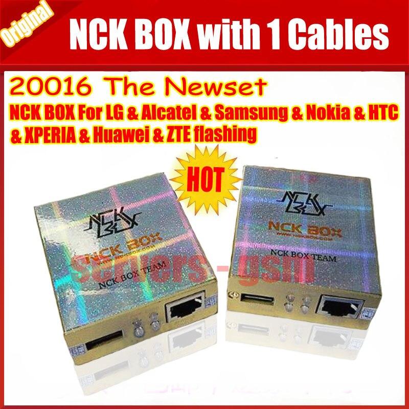 bilder für Die neueste version 100% Original NCK BOX mit 1 kabel gold farbe für Lg, samsung, BB, Motorola Kostenloser versand