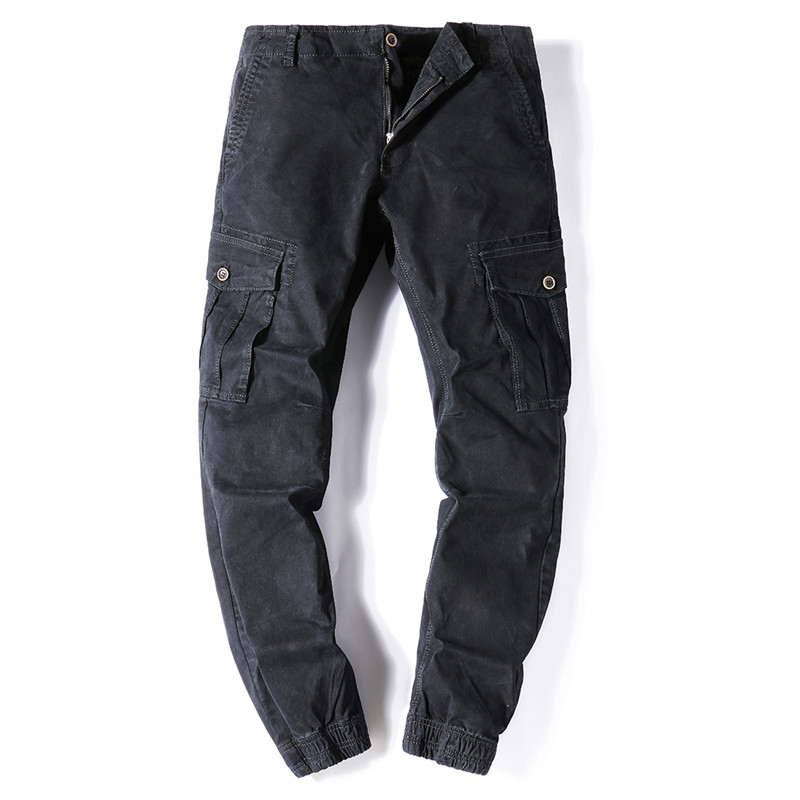 Mens New Cargo Pants Casual Men Solid High Quality Long Trousers Multi Pockets Work Pants Overall Male 28-38 Tactical Pants