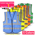Hi vis vest workwear clothing safety reflective vest safety vest reflective logo printing