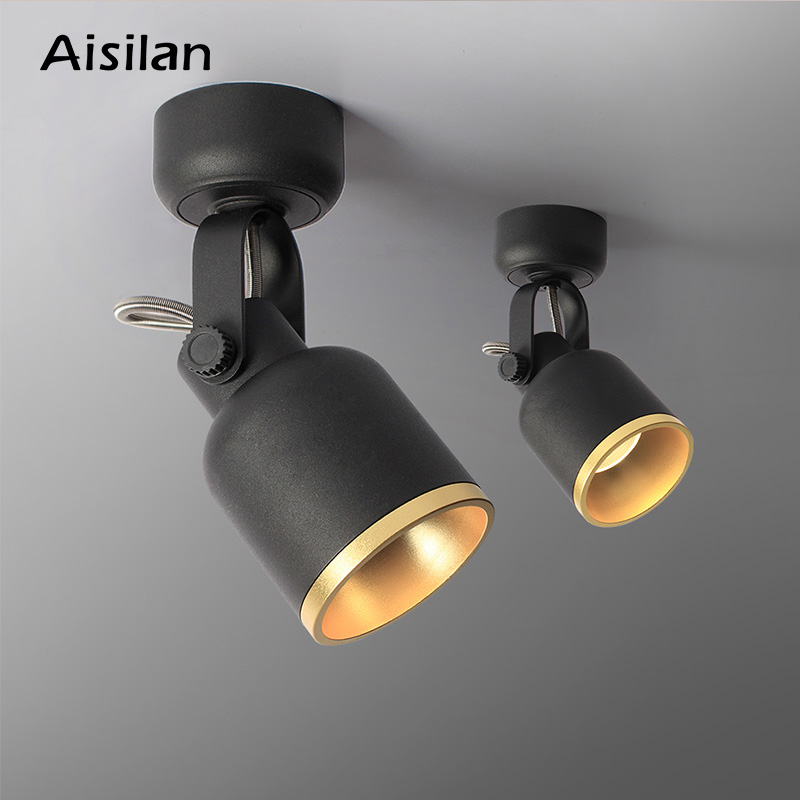Aisilan Led Surface Mounted Ceiling Nordic Spotlight Adjustable 90 degrees Spot light for indoor Foyer Living