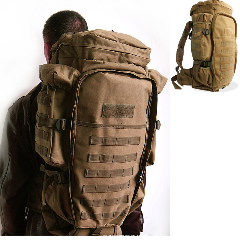 Military USMC Army Tactical Molle Hiking Hunting Camping Rifle M4 Carbine Shotgun Backpack Bag Hot Climbing Bags Tan Green Black military army tactical molle hiking hunting camping back pack rifle backpack bag climbing bags outdoor sports travel bag