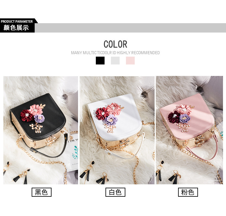 Women crossbody bag female messenger bag with long and short strap fashion designs flowers 50