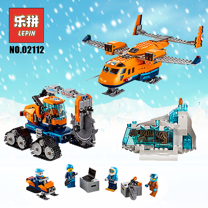 Lepin 02112 City Series the Arctic Air Transportation Set 60196 Building Blocks Bricks Model Set Children Gifts Legoinglys City lepin 02112 new city series the arctic supply plane set 60196 building blocks bricks legoinglys toys model boy christmas gifts