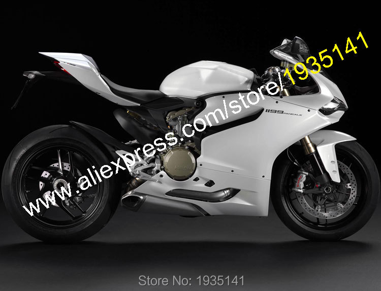 Hot Sales,All White For 2012-2014 Ducati 1199 1199S 899 12-14 Bodywork Cowling ABS Motorcycle Fairing Kit (Injection molding) hot sales yzf600 r6 08 14 set for yamaha r6 fairing kit 2008 2014 red and white bodywork fairings injection molding