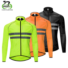 WOSAWE Reflective Cycling Jacket Breathable Ultra-light Windproof Wind Coat Bicycle Jersey Road MTB Bike Windbreaker Men