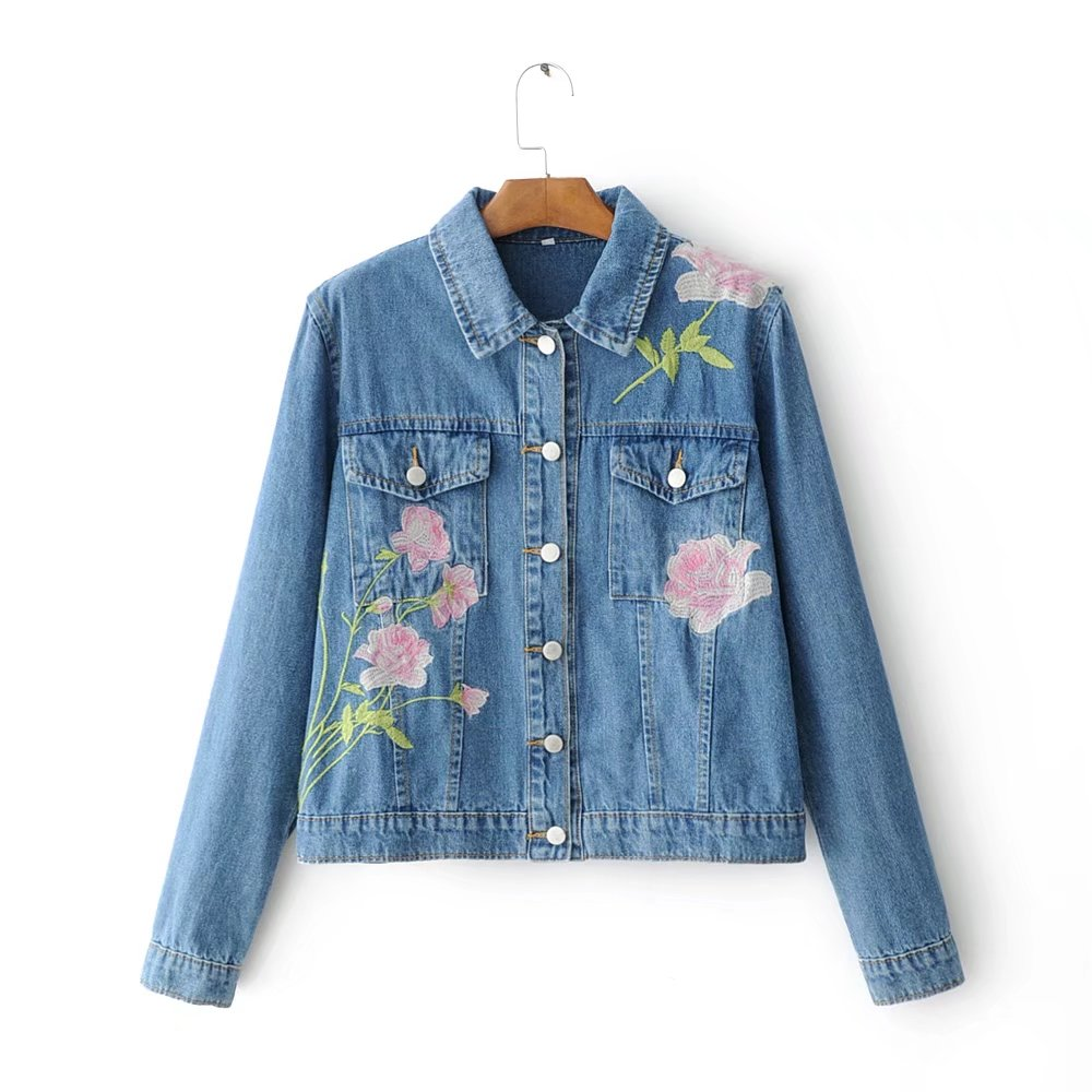 spring denim jacket coat women spring autumn casual jeans embroidery outerwear coat female winter basic jackets