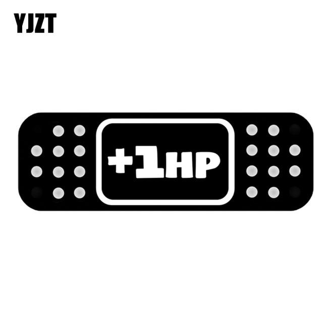 Yjzt 124cm cartoon 1hp band aid jdm decal car sticker accessories black