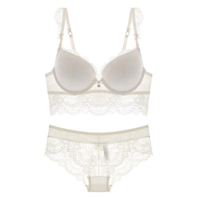 Fashion sexy push up adjustable lace underwear accept supernumerary breast bra thickening bra set high quality lingerie sets 4