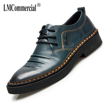 cowhide fashion casual mens shoes Genuine Leather breathable business shoes male Lace-Up Men Dress Shoes High Quality Spring 2017 size 38 44 high quality mens shoes loafers genuine cowhide male breathable and deodorant comfortable casual fashion zapatos