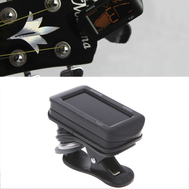 Electric Acoustic Guitar Tuner Digital LCD Clip-On Chromatic Bass Ukulele Violin #35/11W