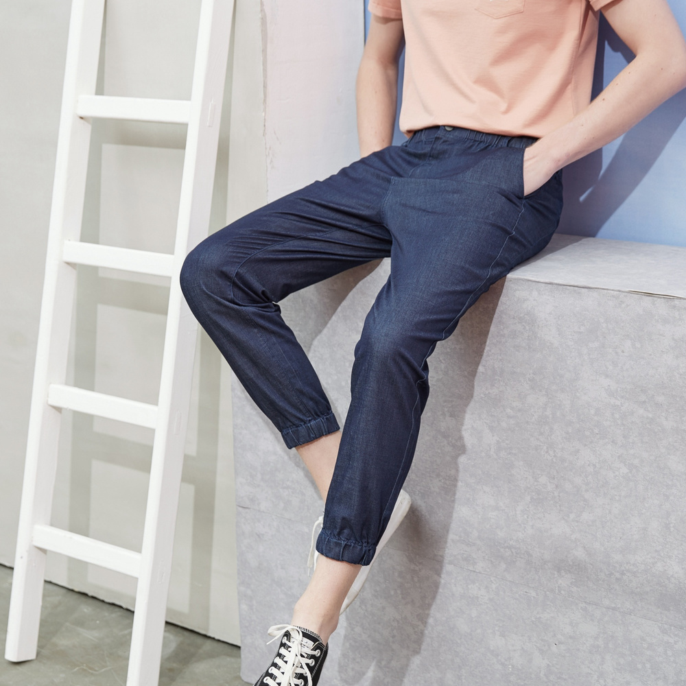 Metersbonwe Straight Jeans Men 2019 Summer New Casual Youth Trend Lightweight Loose Ankle-length Pants Men