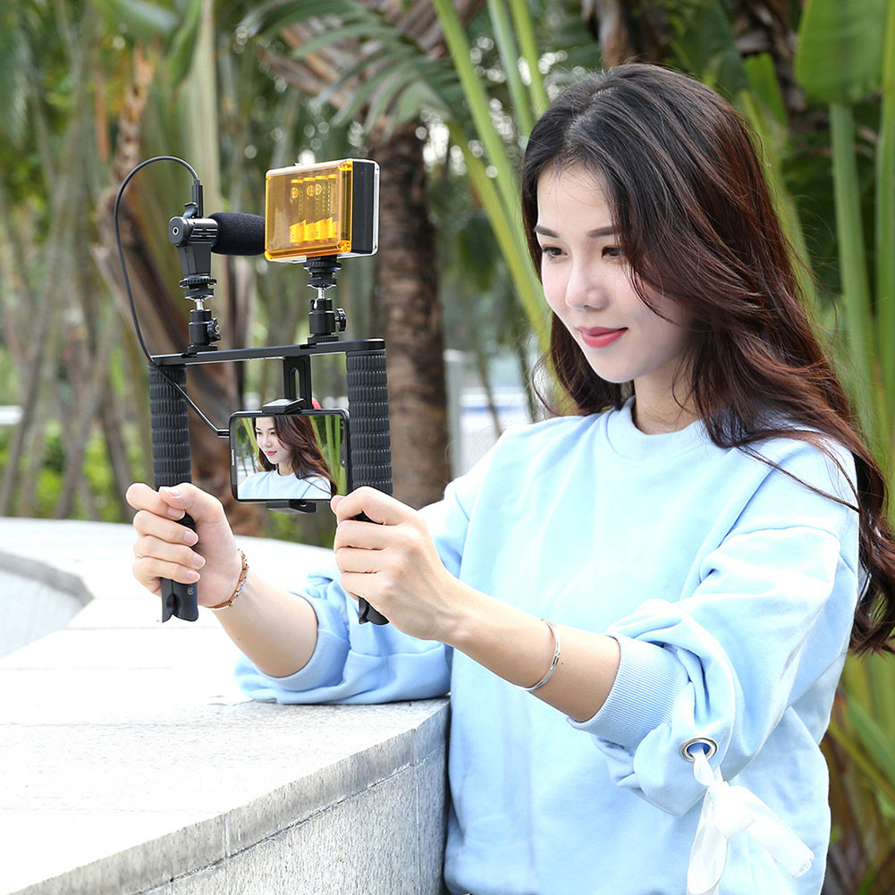 Mini Tripod Microphone Kits Stabilizer Steady Grip Rig For Live Broadcast Smartphone DJA99Mini Tripod Microphone Kits Stabilizer Steady Grip Rig For Live Broadcast Smartphone DJA99