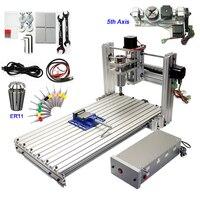 5 achsen CNC Router Stecher 6030 400W USB Fräsen Maschine mit Gravur Werkzeuge und ER11 Chuck|Holzfräsemaschinen|Werkzeug -
