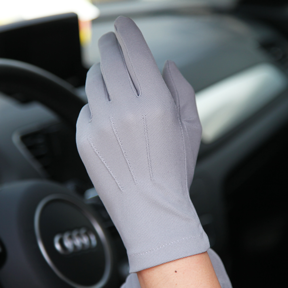 Autumn Winter Sunscreen Gloves Male Thin Style Breathable Non-Slip Driving Full Fingers Man's Summer Mittens SZ010W1