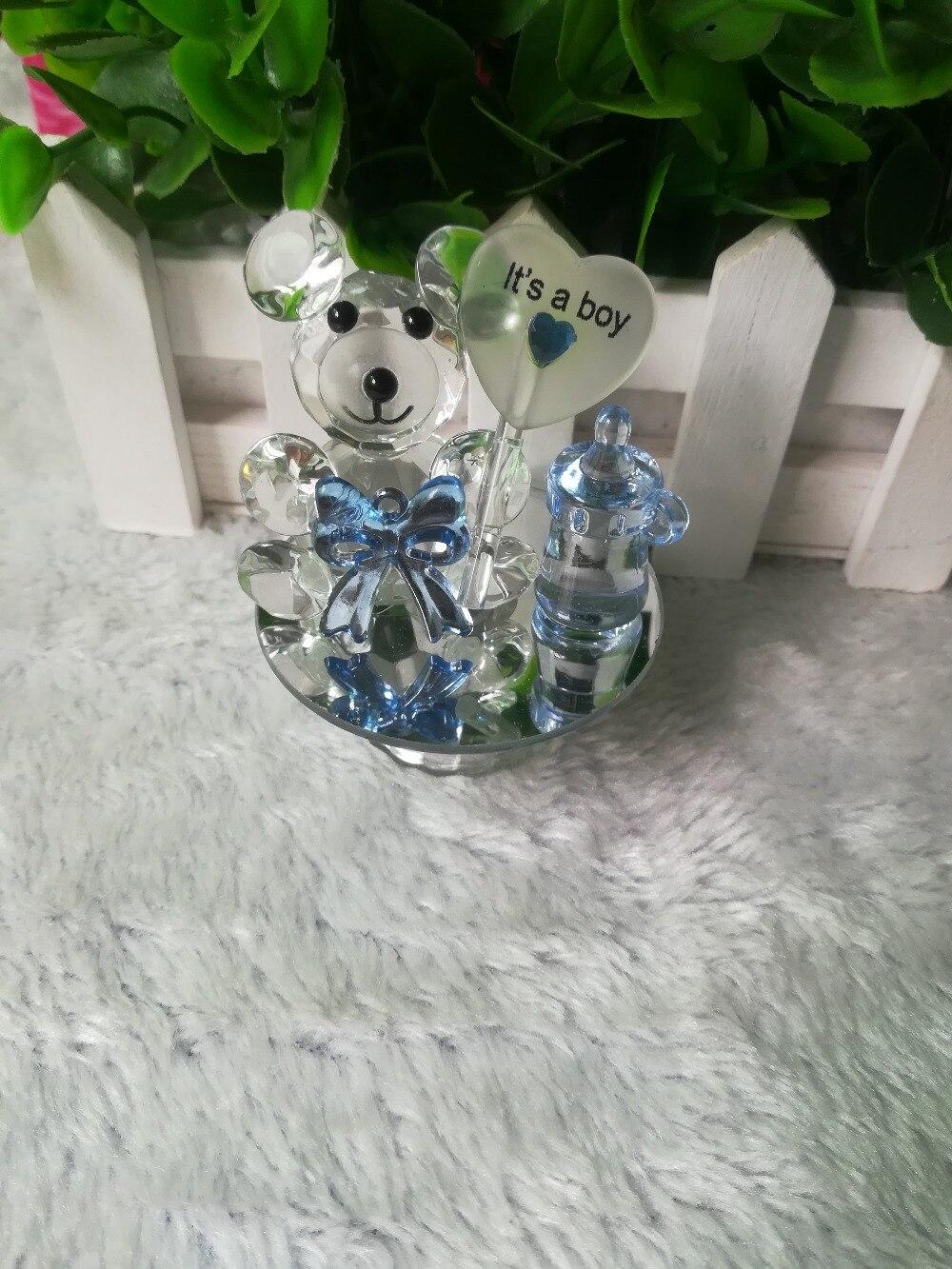 K5 cristal ours mamelon baptême bébé douche Souvenirs fête baptême cadeau mariage faveurs et cadeaux pour invité-in Accessoires de fête from Maison & Animalerie    1