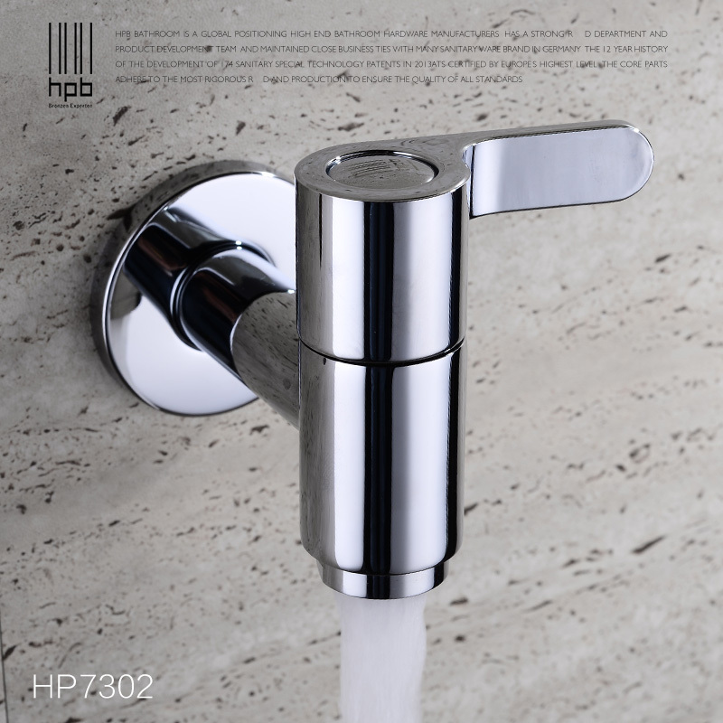 Hpb Hot Vente Laiton Froide Tap Mop Piscine Montage Mural