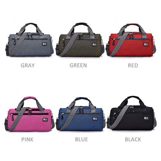 Scione Men Travel Sport Bags Light Luggage Business Cylinder Handbag Women Outdoor Duffel Weekend Crossbody Shoulder Bag Pack 5