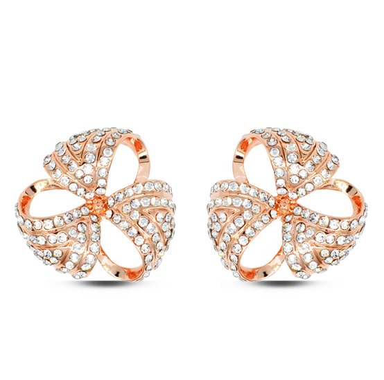 E109 Rhinestone Las Stud Earring Gold And Silver Color Fashion Earrings Women Jewelry 2017 Latest Designs In From