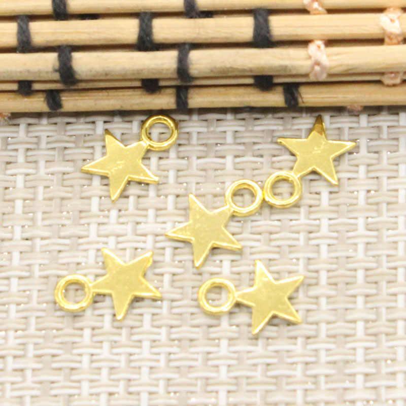 30pcs Charms star 11x8mm เงินทิเบตจี้เครื่องประดับโบราณทำ DIY Handmade Craft