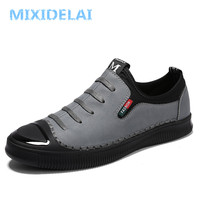 MIXIDELAI Brand Fashion Casual Shoes Men Loafers Adult Footwear Quality Breathable Microfiber Leather Soft Driving Flats Shoes