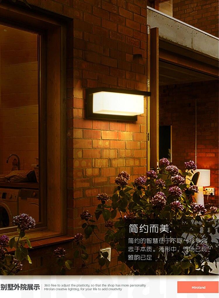 pátio 18 w 30 moderna lâmpada de