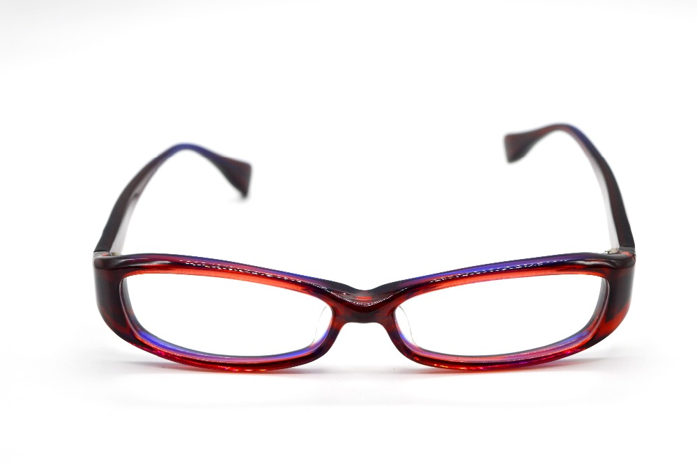 ᗕ!!!ONLY ONE!!! HAND MADE GLASSES LADIES RED THICK EDGES GLASSES ...