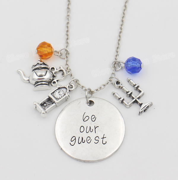 2015 Summer Style Beauty and the Beast Necklace