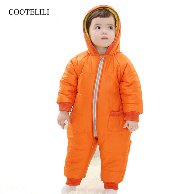 ce01734ec9f1 COOTELILI Winter New Born Baby Boys Clothes Baby Girl Romper Warm ...