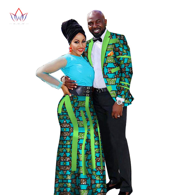 7a88434106e05 Fashion African Couple Wedding Clothing Dashiki Women Skirt & Men shirt for  Lovers Casual loose Traditional Clothing WYQ66