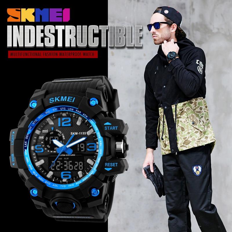 Fashion Sport Super Cool Men's Quartz Digital Watch Men Sports Watches SKMEI Luxury Brand LED Military Waterproof Wristwatches 4