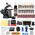 Solong Tattoo Kits Pro Handmade Coil Tattoo Machine Power Supply Foot Pedal Needle Grips Tip Ink Set TKA01