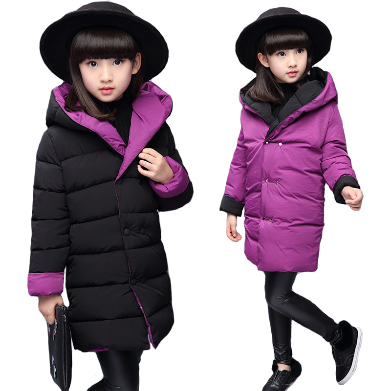 Autumn Winter Thin Jacket Girl Coat Children Hooded Outerwear Windbreaker Girls Parka Kids Clothes Casual Long Jackets For Girls
