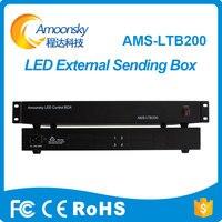 Amoonsky LTB200 Sending Box support 4 nova msd300/ linsn ts802d colorlight sending card for hd c30 video wall display