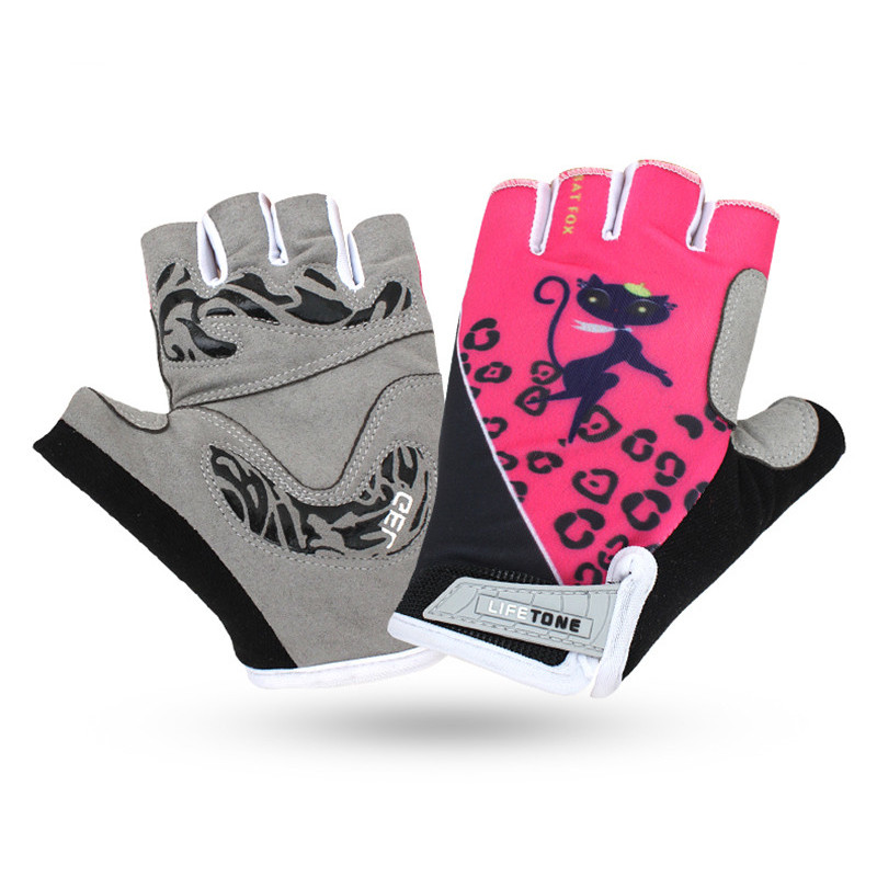 BATFOX Bicycle gloves Women MTB Bicycle Motocross Bike Non-Slip Breathable Gloves Half Finger GEL Guanti Ciclismo Bike Gloves