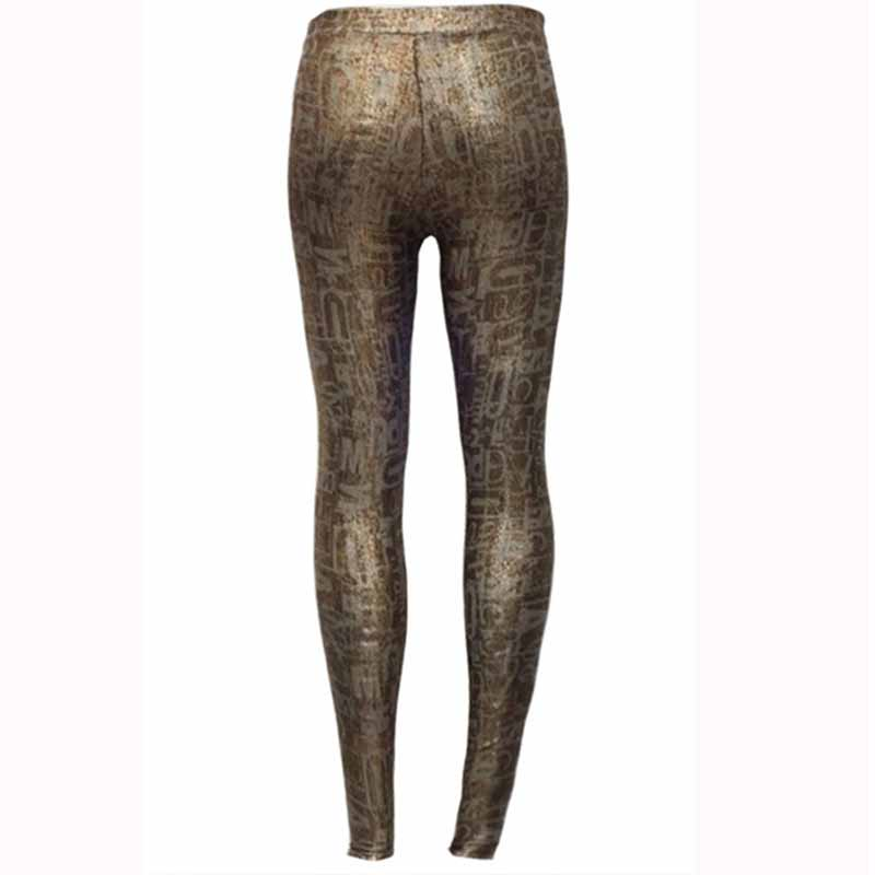 Wholesale Mid Waist Push Up Printed Leggings Sexy Fashion Girl Cute Gold Printing Womens Leggings