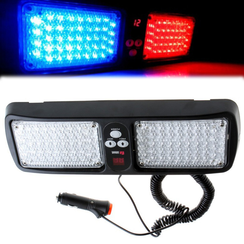 buy 86 led visor panel car led strobe light emergency light police led warning. Black Bedroom Furniture Sets. Home Design Ideas