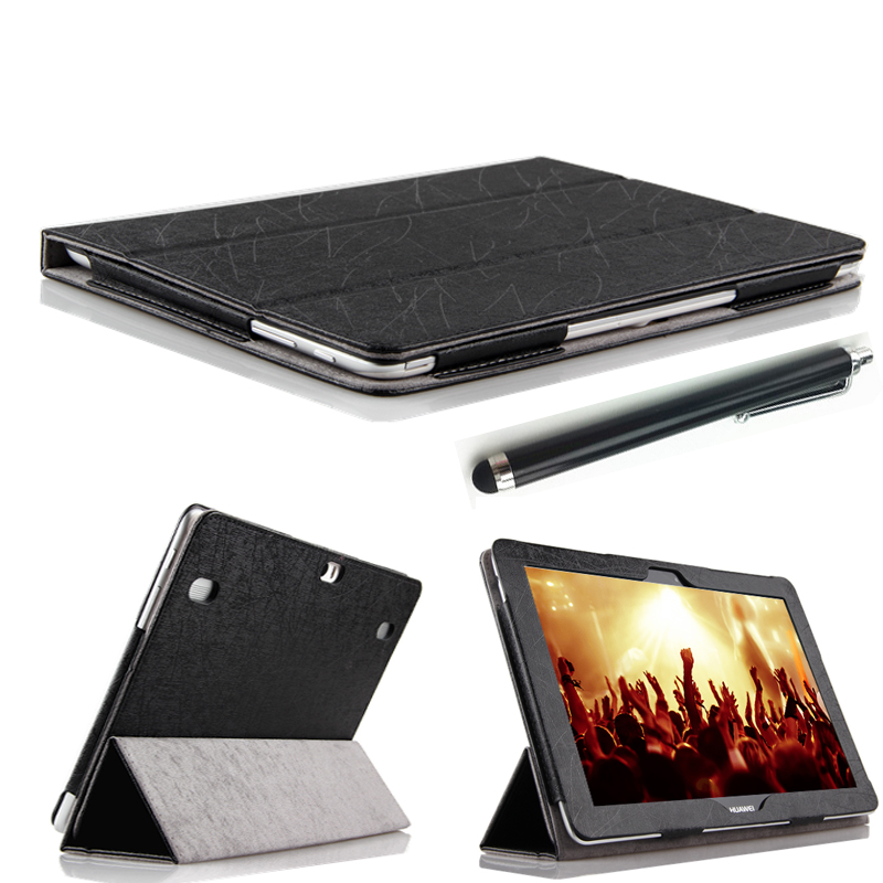2in1! 10.1 inch New design fashion Stand protective Case For Huawei MediaPad 10 FHD / Link PU leather Cover Free shipping free shipping 3in1 10 1 inch luxury kit stand case crocodile leather cover for huawei mediapad 10 fhd 10 link capa funda