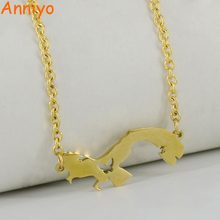 Anniyo Chain Length 50cm + 5cm,Panama Map Pendant Gold Color Jewelry Map of Panama Chain Necklaces for Women #008521(China)