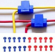 Connectors Terminals Electrical AUTO Lock Car-Audio-Kit-Tool Wire-Cable T-Shape 10pcs