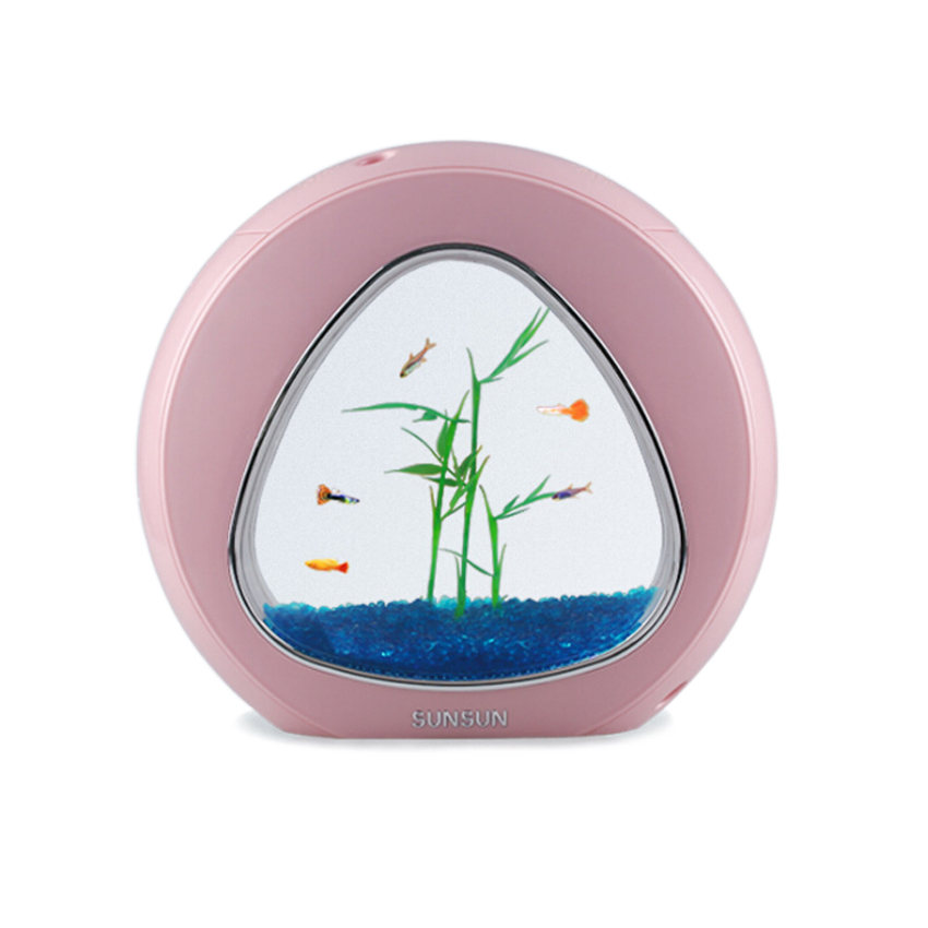 Mini aquarium aquarium aquarium poisson bol aquarium réservoir 110 V-220 V/USB LED éclairage vient aérobie système de filtration intégration - 5