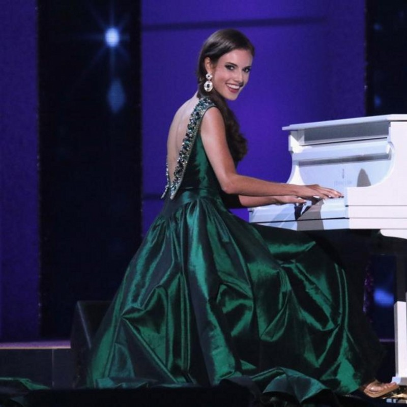 Miss America Dark Green Prom Dresses 2016 Celebrity Evening Gown ...