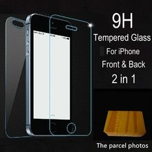 2pcs lot front back Tempered Glass For iPhone 5 5S 6 6s 7 plus 4 4S