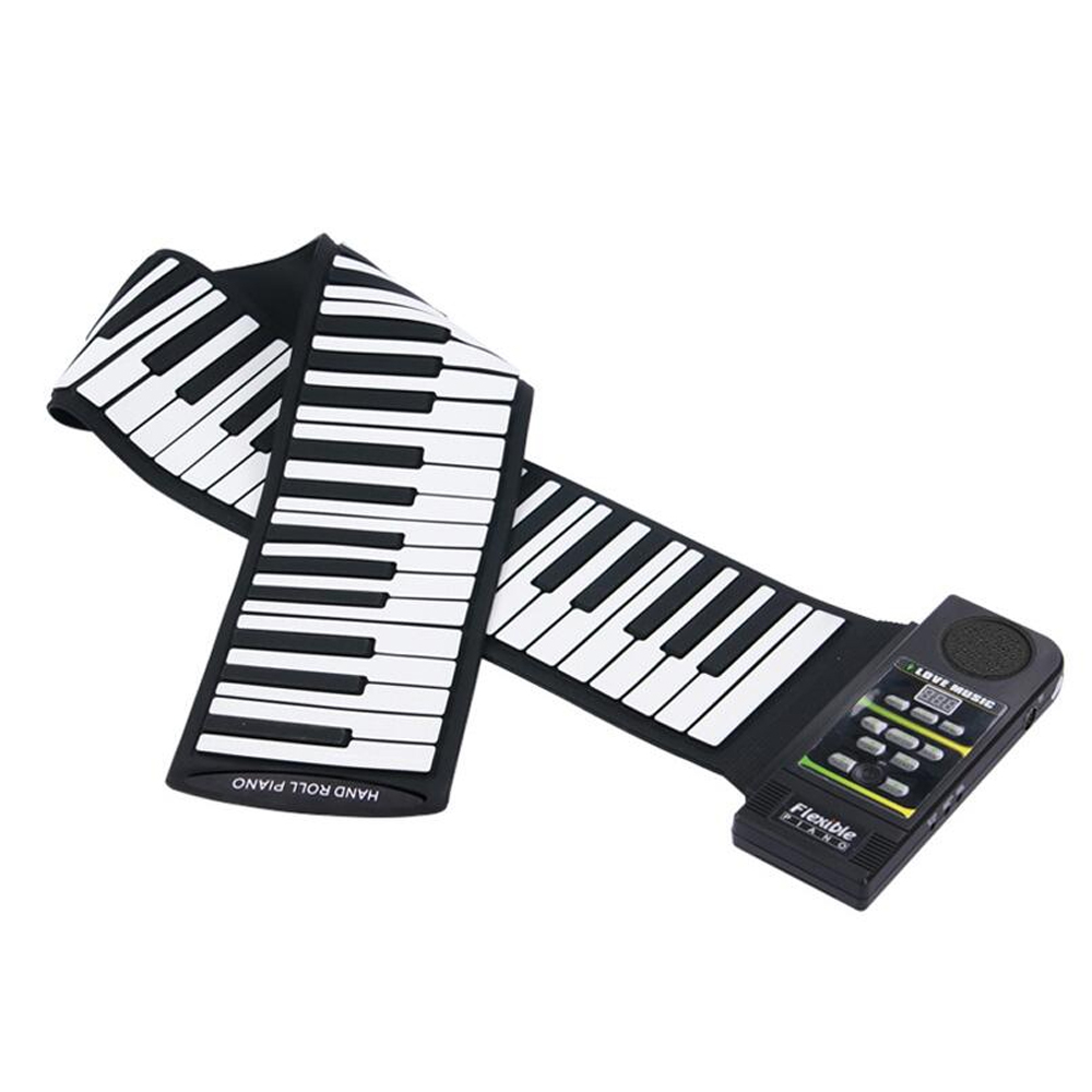 Top qualité 88 clé Silicone retrousser Piano électronique Piano MIDI clavier musique avec haut-parleur fort 28 tons 100 rythmes KB14