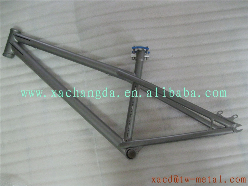 titanium bmx bike frame with sand blast finished customized ti bmx bicycle frame with seat post made xacd ti bmx bike frame