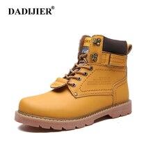 7dcfe49e0e038 DADIJIER Inverno Homens Botas de Alta Qualidade Botas de Couro Masculinas  Botas Moda Inverno Sapatos de