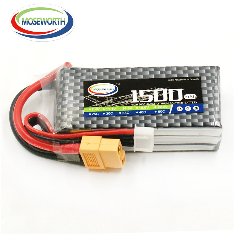 MOSEWORTH 3S RC Lipo battery 11.1v 1500mAh 30C For RC Helicopter Airplane Drone Car RC Li-Polymer batteria 3S mos 5s rc lipo battery 18 5v 25c 16000mah for rc aircraft car drones boat helicopter quadcopter airplane 5s li polymer batteria