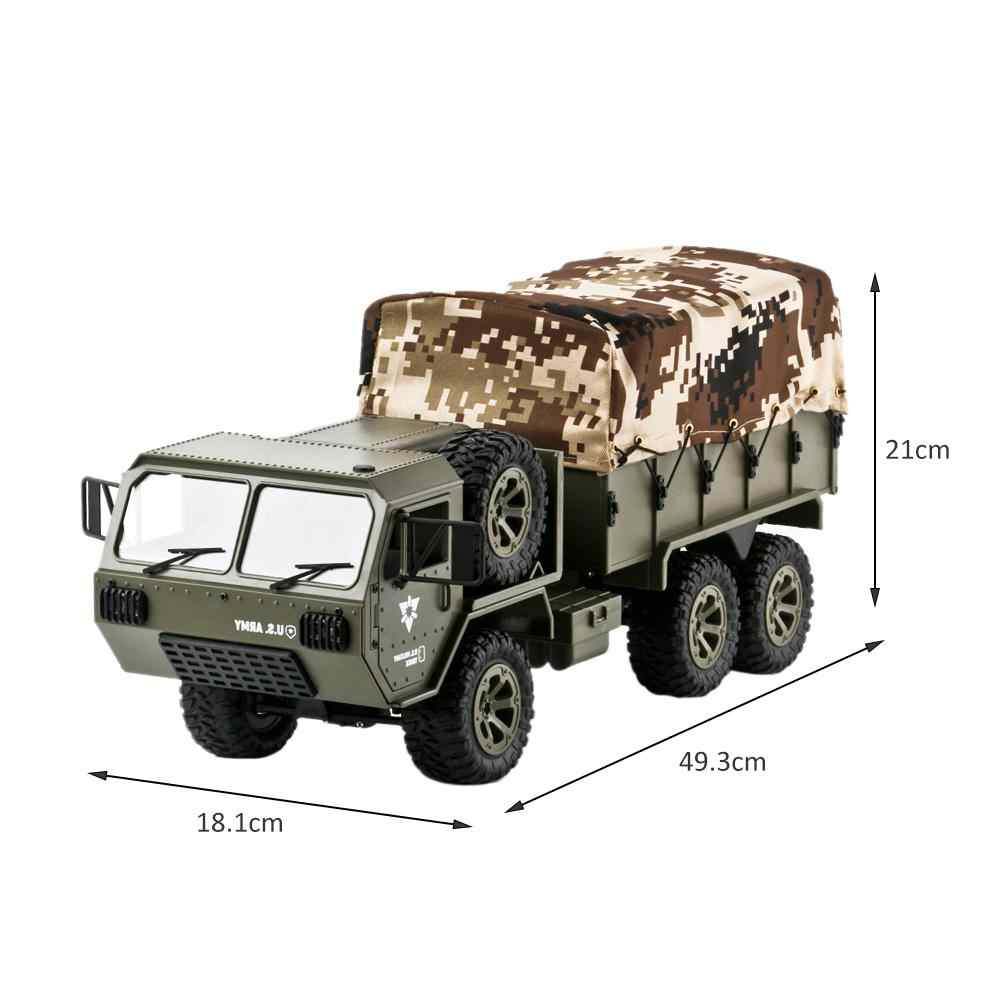 1:16 2.4G Six-wheel Drive Pickup US Army Military Truck Model With Tent Remote Control Toy Car Children's Beautiful Toy Gift